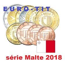SERIE   8   PIECES   MALTE   2018    RARE      MALTE    NOUVEAU  2018 disponible
