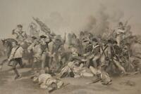 Antique Original 1850's Engraving Battle of Camden American Revolutionary War