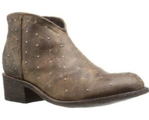 Women's Five Worlds by Cordani SOL PIQUETES Ankle Boots Antiqued Leather Brown 8