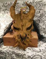 Vintage 1997 Massive Gold Devil Illusive Concepts Halloween Mask Prop NWT New
