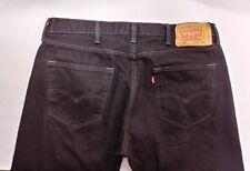 Levi's 501 Men's Size 38x34 Classic Straight Leg Button Fly Black Jeans (B5)