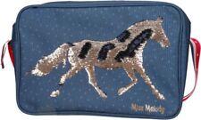 Depesche MISS MELODY HORSE Shoulder MESSENGER BAG Blue SEQUIN Copper  A4