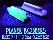 Lucky 7-11 3 WAY Planer Bobber GLOWS in THE DARK mini PLANER BOARD