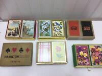 Vintage Playing Card Boxes ONLY Double 2 Decks Cards 23948