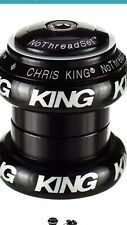 "Chris King NoThreadset 1 1/8"" threadless headset, black bold NEW!"