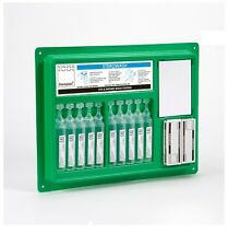 Complete Eye Wash & Wound Pod Eye Care Station Wall Plate including Mirror