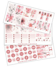 Cherry Blossom Planner Stickers, 3 sheets, The happy planner