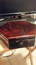 Vietnamese Lacquer thanh le jewelry box with red swirl top