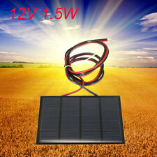 12v 1.5w PANNELLO SOLARE Solar Panel 100MA 115x85mm Fotovoltaico carica battery