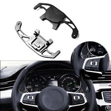Black Aluminum Steering Wheel Shift Paddle DGS Extension For VW Golf Jetta GLI