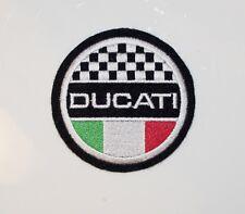 Motocicleta clásica Ducati/Bandera Italiana parche bordado-Isla de Man