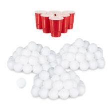 144er Set Beer Pong Bälle, Tischtennisbälle, Lottokugeln, Ping Pong Bälle weiß