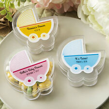 72 Personalized Acrylic Baby Stroller Baby Shower Favor Boxes