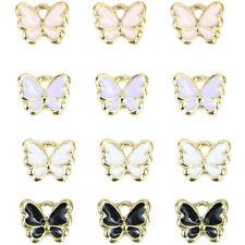40 Pcs Enamel Butterfly Charms Bracelet Pendant For DIY Earrings Jewelry Making