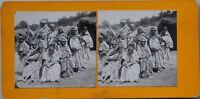 Argérie Groupe Femmes Foto Stereo PL47 Vintage Analogica c1900