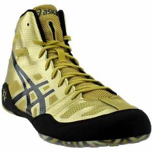 ASICS Jb Elite Mens Wrestling Sneakers Shoes Casual   - Gold - Size 14 D