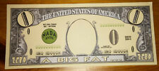 Big Fat Zero Novelty Bank Note Gift Idea Put in Birthday Christmas Card Joke LOL