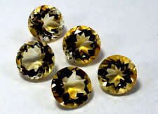 5 Piece Natural Golden Citrine Loose Gemstone 11mm Round Faceted Cut S1878