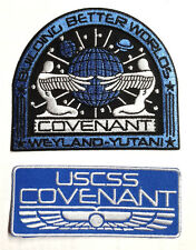 ALIEN COVENANT Movie Deluxe Uniform/Costume Patch Set of 2 (ALPA-COV-Blue)