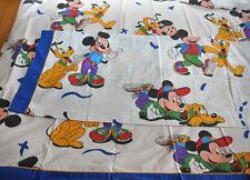 Rare Disney / drap plat Mikey et Pluto TBE / Flat sheet Mikey Very good state