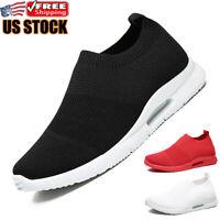 Men's Casual Sneakers Lightweight Running Athletic Sport Tennis Walking Shoes