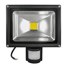 Foco de exterior LED COB - 20 watts Blanco Cálido Con Detector movimiento 180°