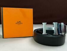 New Herme fashion Leather Belt with Silver Buckle and Box
