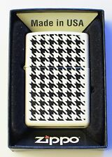 Genuine New ZIPPO Petrol Lighter Squares and Planes Black White Matt Finish