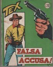 TEX  ORIGINALE 1a edizione 1963 SPILLATO N. 37 FALSA ACCUSA ! G.L.Bonelli Galep