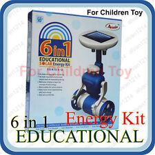 6 in 1 Educational Game Hybrid Solar Energy Robot Kit for Children Kids Toy Blue
