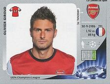 N°100 OLIVIER GIROUD # FRANCE ARSENAL.FC CHAMPIONS LEAGUE 2013 STICKER PANINI