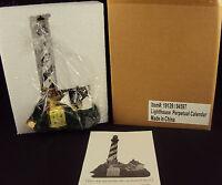 Perpetual Calendar Figurine, Lighthouse On A Sandbar, Free USA Shipping!