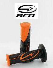 Poigné BCD Orange Noir KTM guidon Scooter Moto Bike Rubber Grip handlebar Black