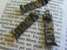 6x Half Love Letter CHARM 25x7mm (in gun metal tone) - Code 2198