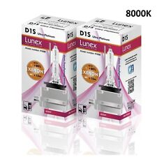 2 x D1S Genuine LUNEX XENON 8000K HID BULB compatible with 66043 66144 85410 UPT