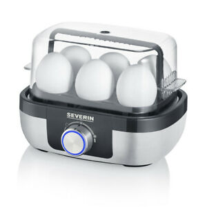 Severin Egg Boiler with Cooking Time Control & Transparent Hood, Poach and Steam