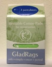 Gladrags Color Pantyliner Reusable Cotton Pads For Menstruation 3 Pantyliners