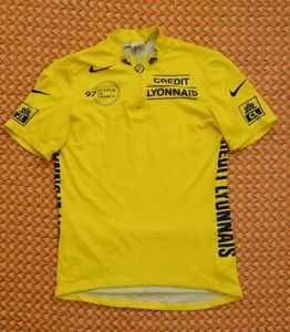 Tour De France, Yellow, Jersey, 1997, Cycling Shirt by Nike, Size- L