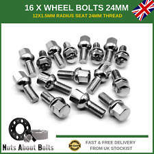 16 x Alloy Wheel Bolts 12x1.5 Radius Seat For Smart Roadster (2003-06)