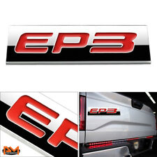 """EP3"" Polished Metal 3D Decal Red Emblem Exterior Sticker For 01-05 Honda Civic"