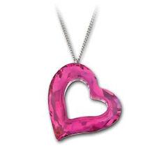 Swarovski Large Love Heart Fuschia Pendant Necklace - New in Box 1123371