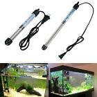 50W 100W Aquarium Mini Submersible Fish Tank Adjustable Water Heater Brand New