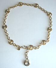 RARE Vintage RLM Robert Lee Morris Gold Plated MODERNIST CHAIN BELT/Necklace