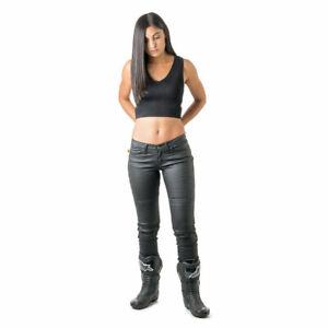 Women's Draggin' Jeans Black Slix Motorcycle Riding Biker Size 12 14 16 18