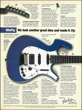Parker Nitefly Electric Guitar 1998 ad 8 x 11 advertisement print