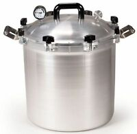 All American 941 41.5 Qt Heavy Cast Aluminum Pressure Cooker / Canner NEW