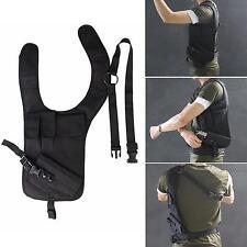 Sports Concealed Hidden Underarm Shoulder Holster Single Bag&Additional Pouch BK