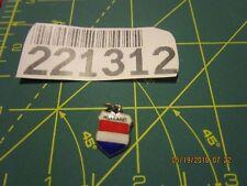 VINTAGE 835 Silver Travel Shield Bracelet CHARM holland  not sterling
