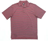Footjoy FJ Mens Mens M Short Sleeve Red Striped Polo Shirt EUC