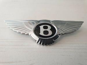 Original Bentley Logo für Lenkrad Badge Emblem Flying Wing Steering Airbag Neu